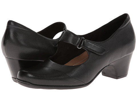 Clarks - Sugar Palm (Black Leather) High Heels