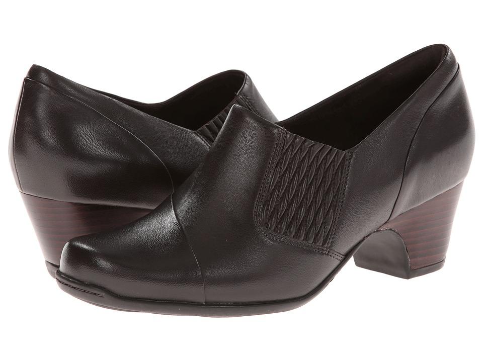 Clarks - Sugar Maple (Dark Brown Leather) Women's 1-2 inch heel Shoes