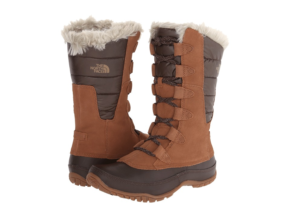 The North Face - Nuptse Purna (Dachshund Brown/Shiny Demitasse Brown) Women's Cold Weather Boots