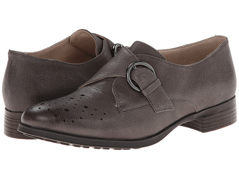 Clarks - Busby Jazz (Dark Grey Leather) Women's Shoes