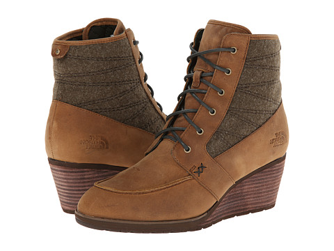 The North Face - Bridgeton Wedge Lace (Cork Brown/Hawk Green) Women's Boots