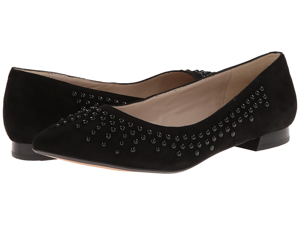 Clarks - Amulet Crystal (Black Suede) Women's Dress Flat Shoes