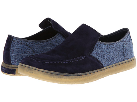 Hush Puppies - Gregory Aquaice (Dark Blue Suede/Canvas) Men