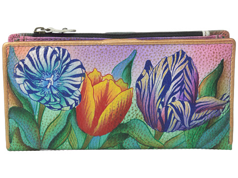 Anuschka Handbags - 1088 (Turkish Tulips) Clutch Handbags