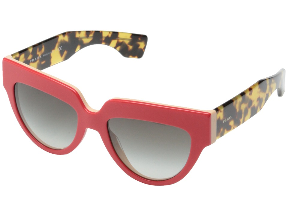 Prada - PR 29PS (Top Red/Beige/Grey Gradient) Plastic Frame Fashion Sunglasses