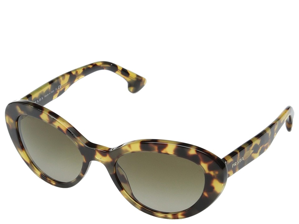 Prada - 0PR 15QS (Medium Havana/Brown Gradient) Fashion Sunglasses