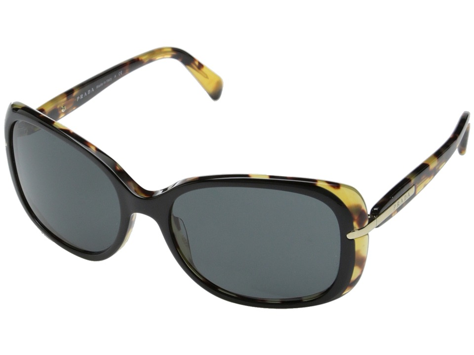 Prada - 0PR 08OS (Black/Havana/Grey) Fashion Sunglasses