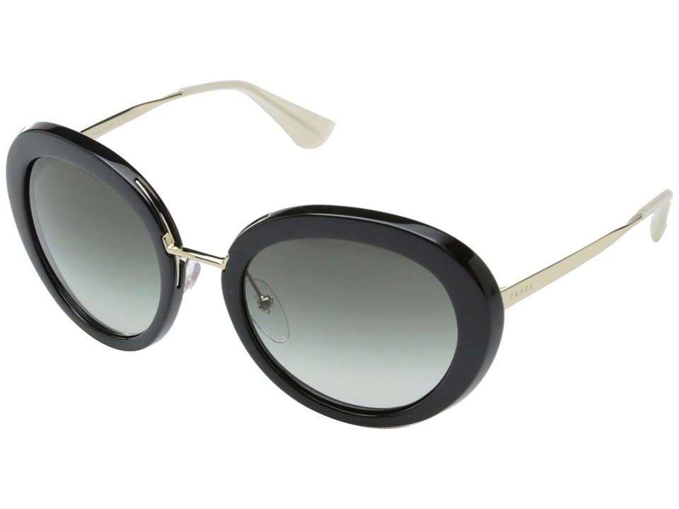 Prada - 0PR 16QS (Black/Opal Ivory/Grey Gradient) Fashion Sunglasses