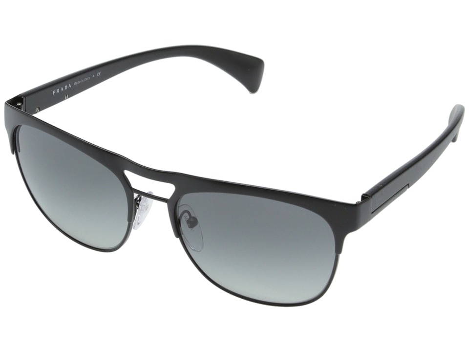 Prada - 0PR 52QS (Matte Black/Grey Gradient) Fashion Sunglasses