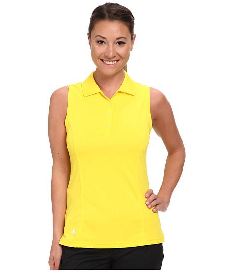 adidas Golf - Solid Jersey Sleeveless Polo '15 (Vivid Yellow) Women's Sleeveless