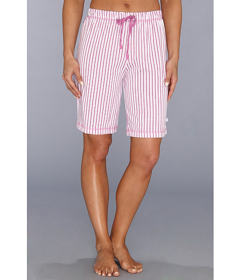 Karen Neuburger - Pool Party knCool Bermuda Short (Stripe/Fuchsia) Women's Pajama