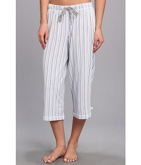 Karen Neuburger - Easy Rider knCool Crop Pant (Stripe/Ash) Women's Pajama