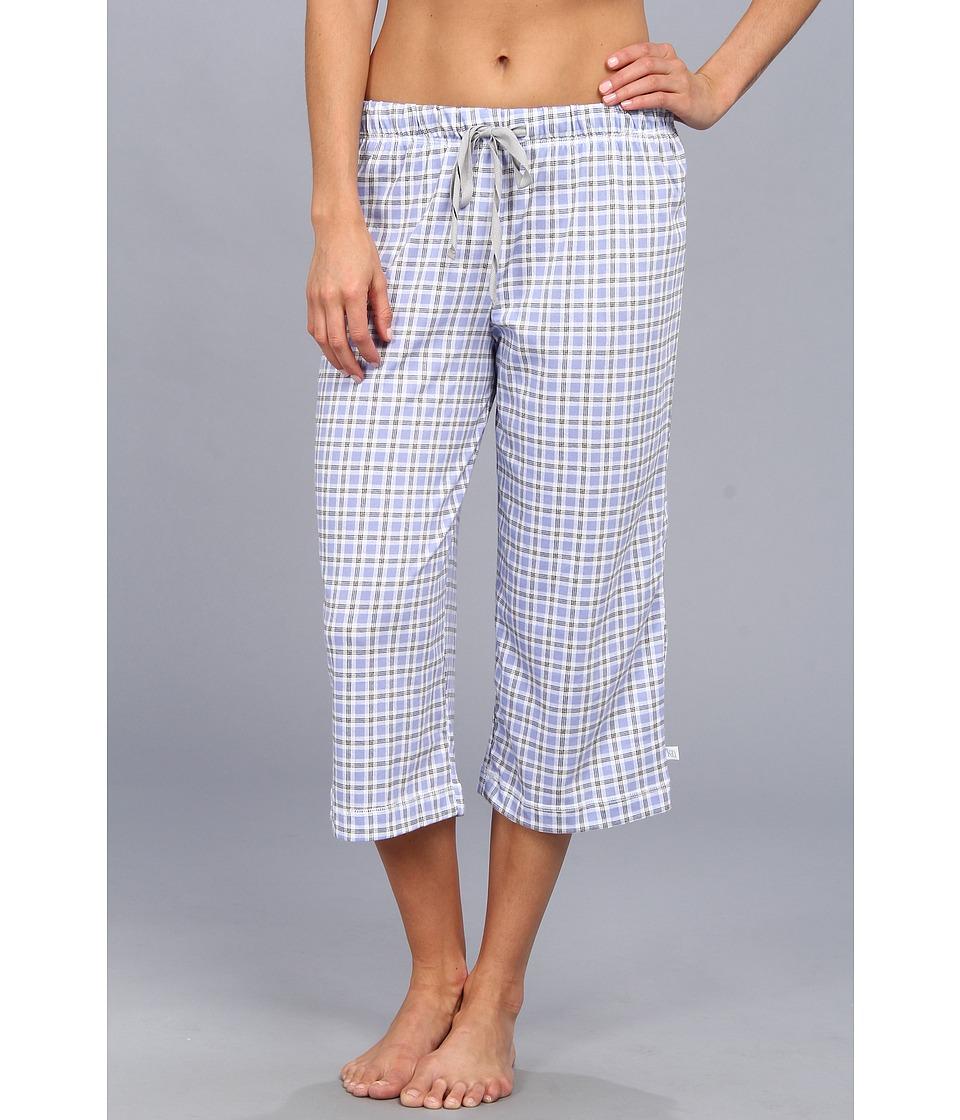 Karen Neuburger - Easy Rider knCool Crop Pant (Check/Lavender) Women's Pajama