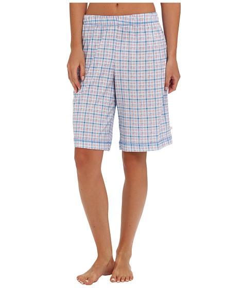 Karen Neuburger - Bye Bye Birdie knCool Bermuda Short (Plaid/Heritage Blue) Women's Pajama