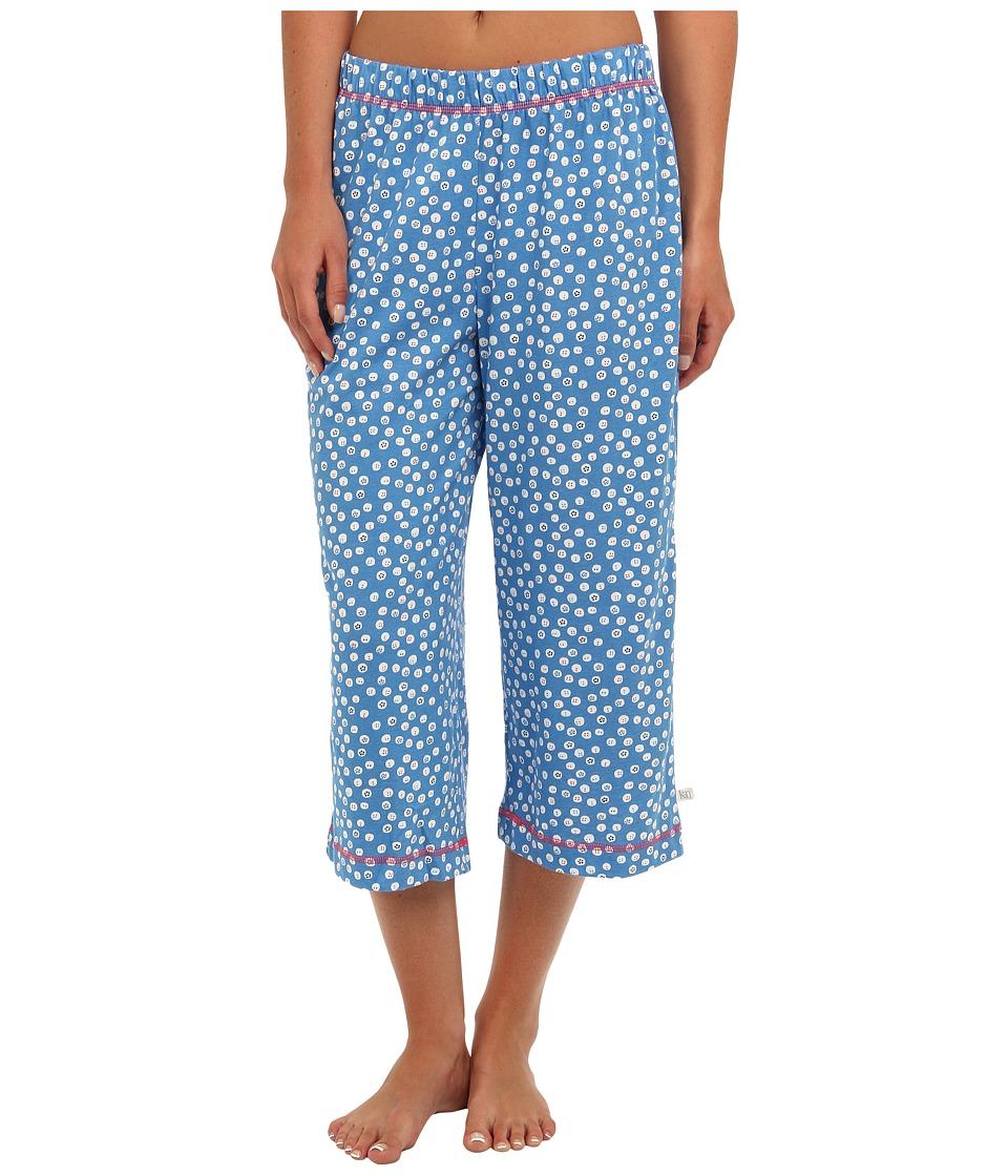 Karen Neuburger - Bye Bye Birdie knCool Crop Pant (Dot/Heritage Blue) Women's Pajama