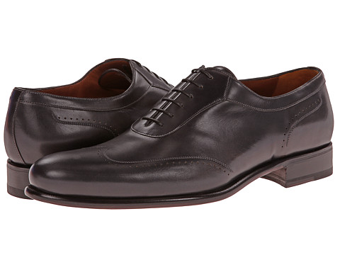 a. testoni - Piombo Antique Calf Oxford (Grey) Men