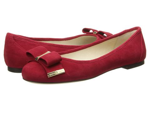 MICHAEL Michael Kors - Kiera Ballet (Scarlet Kid Suede) Women's Flat Shoes