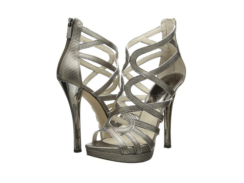 MICHAEL Michael Kors Tatianna Platform (Nickel Embossed Lizard Specchio) High Heels