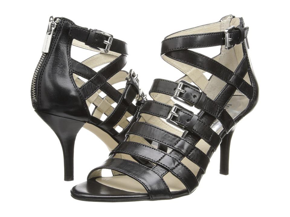 MICHAEL Michael Kors - Sandra Mid (Black Vachetta) High Heels