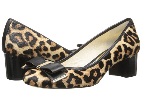 MICHAEL Michael Kors - Kiera Mid Pump (Natural Cheetah Haircalf/Vachetta) Women's 1-2 inch heel Shoes