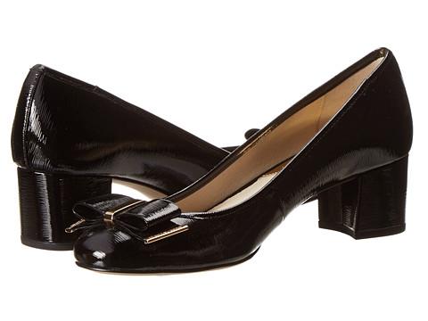 MICHAEL Michael Kors - Kiera Mid Pump (Black Patent Saffiano) Women's 1-2 inch heel Shoes