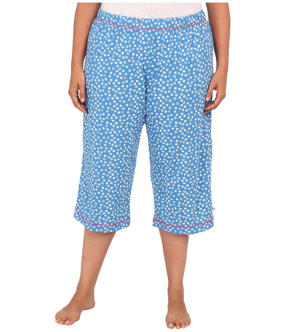 Karen Neuburger - Plus Size Bye Bye Birdie knCool Crop Pant (Dot/Heritage Blue) Women's Pajama
