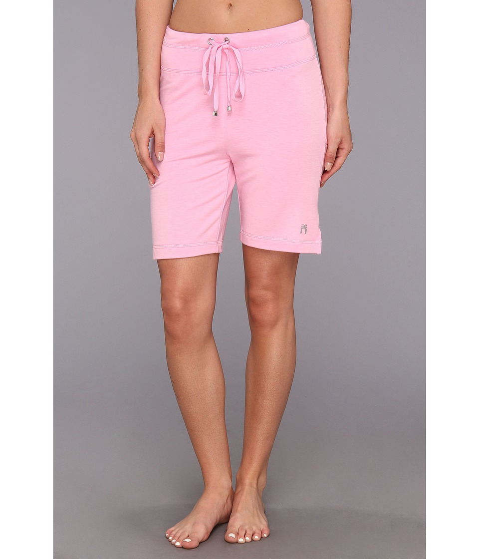 Karen Neuburger - Inspire Pink Zone Drawstring Short (Solid/Peony) Women's Pajama