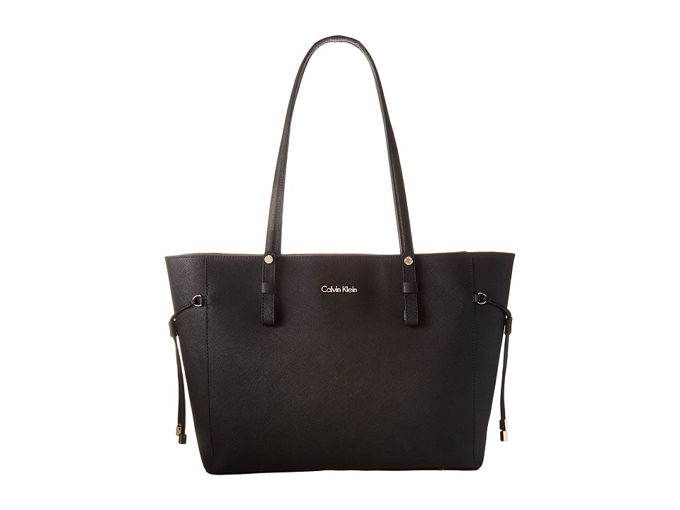 Calvin Klein - Key Item Leather Tote H4AA12GM (Black/Gold) Tote Handbags