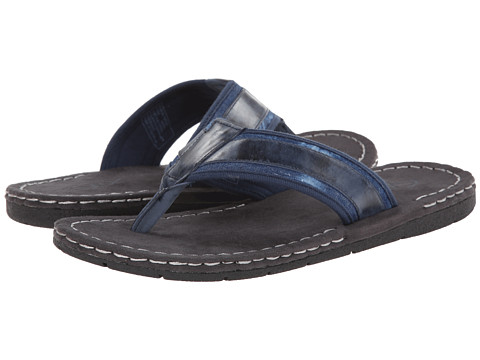 GBX - Leather/Canvas Thong (Navy) Men's Sandals