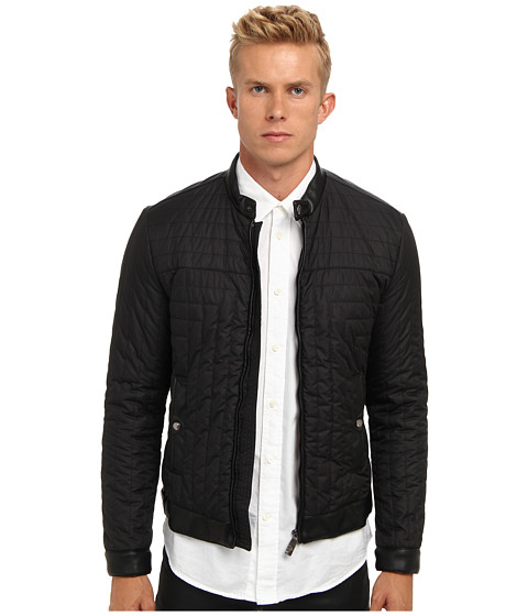 Versace Collection - Quilted Bomber Jacket (Black) Men's Jacket