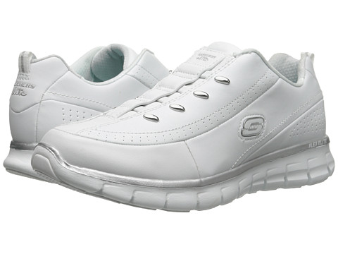 SKECHERS - Elite Class (White/Silver) Women's Lace up casual Shoes