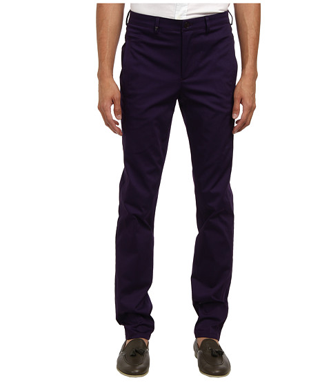 Versace Collection - Stretch Cotton Chino (Purple) Men's Casual Pants