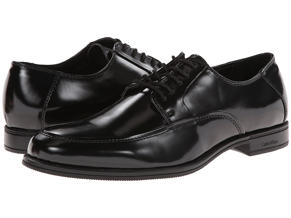 Calvin Klein - Adonis (Black Box Smooth) Men's Lace Up Moc Toe Shoes