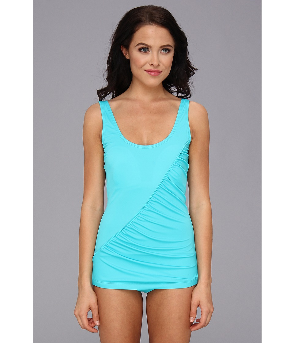 Christin Michaels - Zoey One Piece (Aqua) Women's Swimsuits One Piece