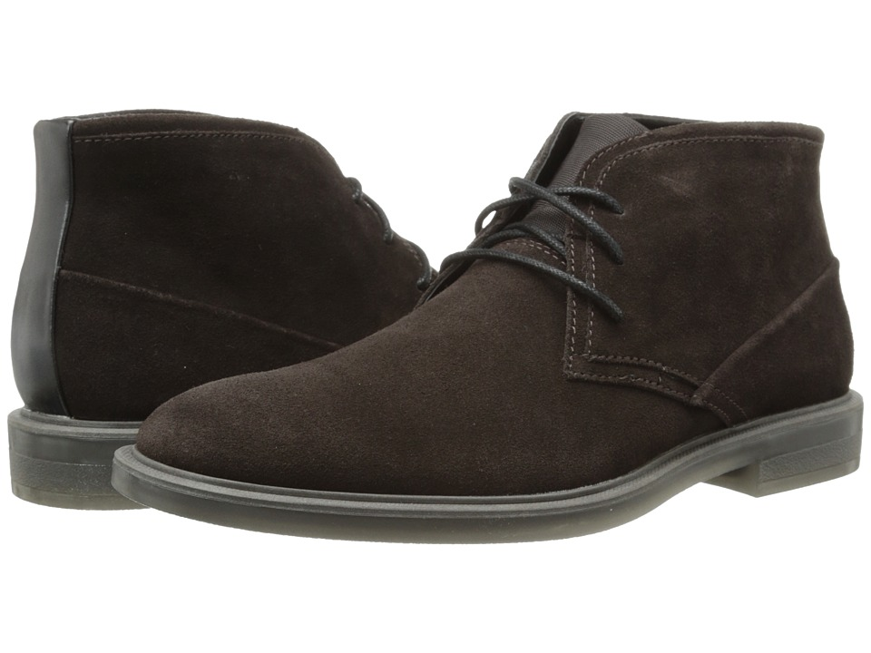 Calvin Klein - Ulysses (Dark Brown Suede) Men's Lace-up Boots