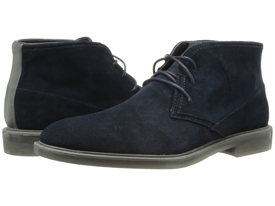 Calvin Klein - Ulysses (Dark Navy Suede) Men's Lace-up Boots