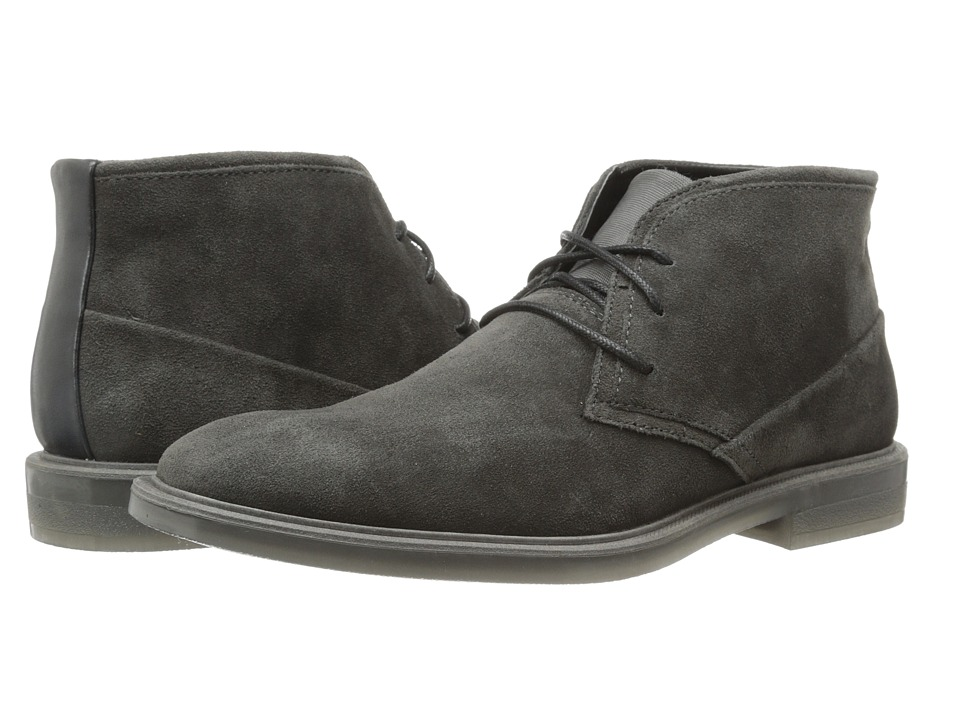 Calvin Klein - Ulysses (Dark Charcoal Suede) Men's Lace-up Boots