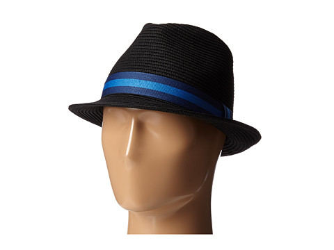 Lacoste - Straw Trilby Hat (Black/Inkwell Blue/Shipwreck Blue) Top Hats