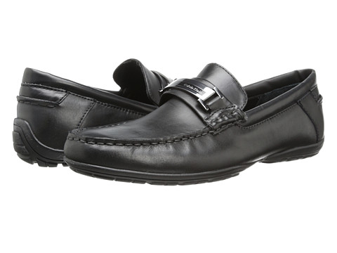 Calvin Klein - Wallace (Black Leather) Men's Slip on Shoes