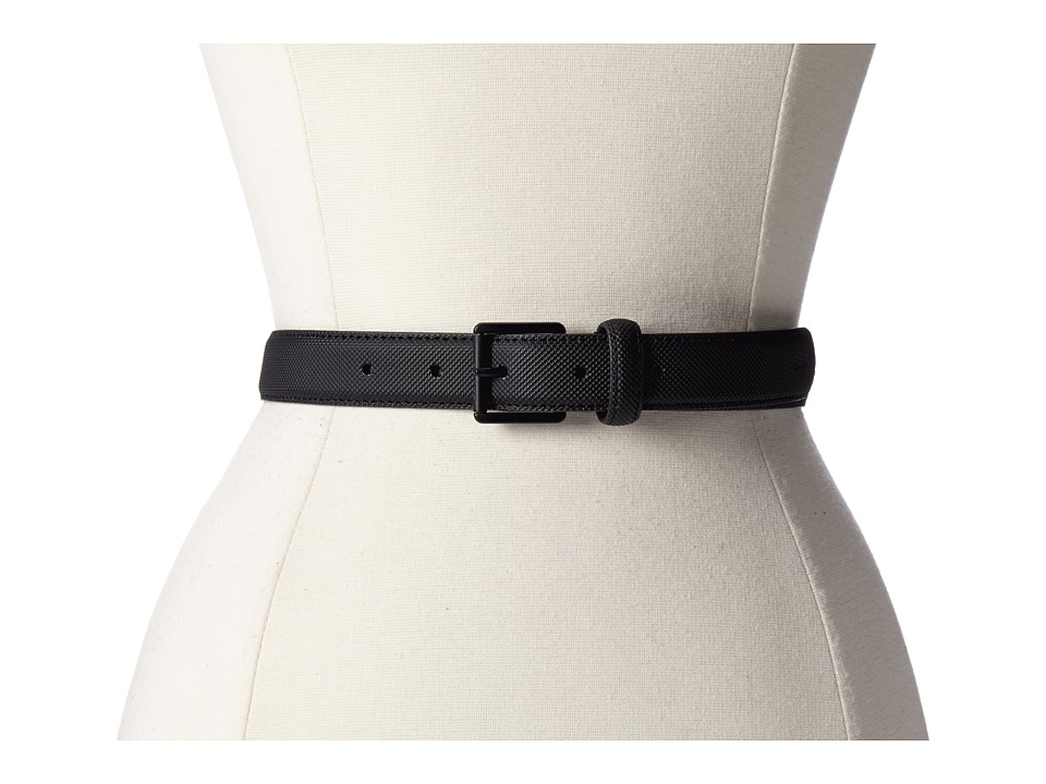Lacoste - L.12.12 Belt (Black) Women's Belts