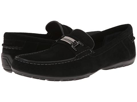 Calvin Klein - Wallace (Black Suede) Men's Slip on Shoes