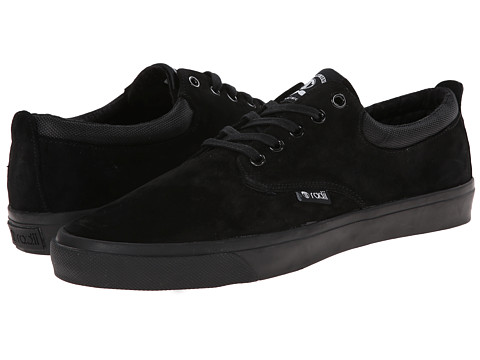 radii Footwear - The Jax (Black/Black Wolverine Suede) Men