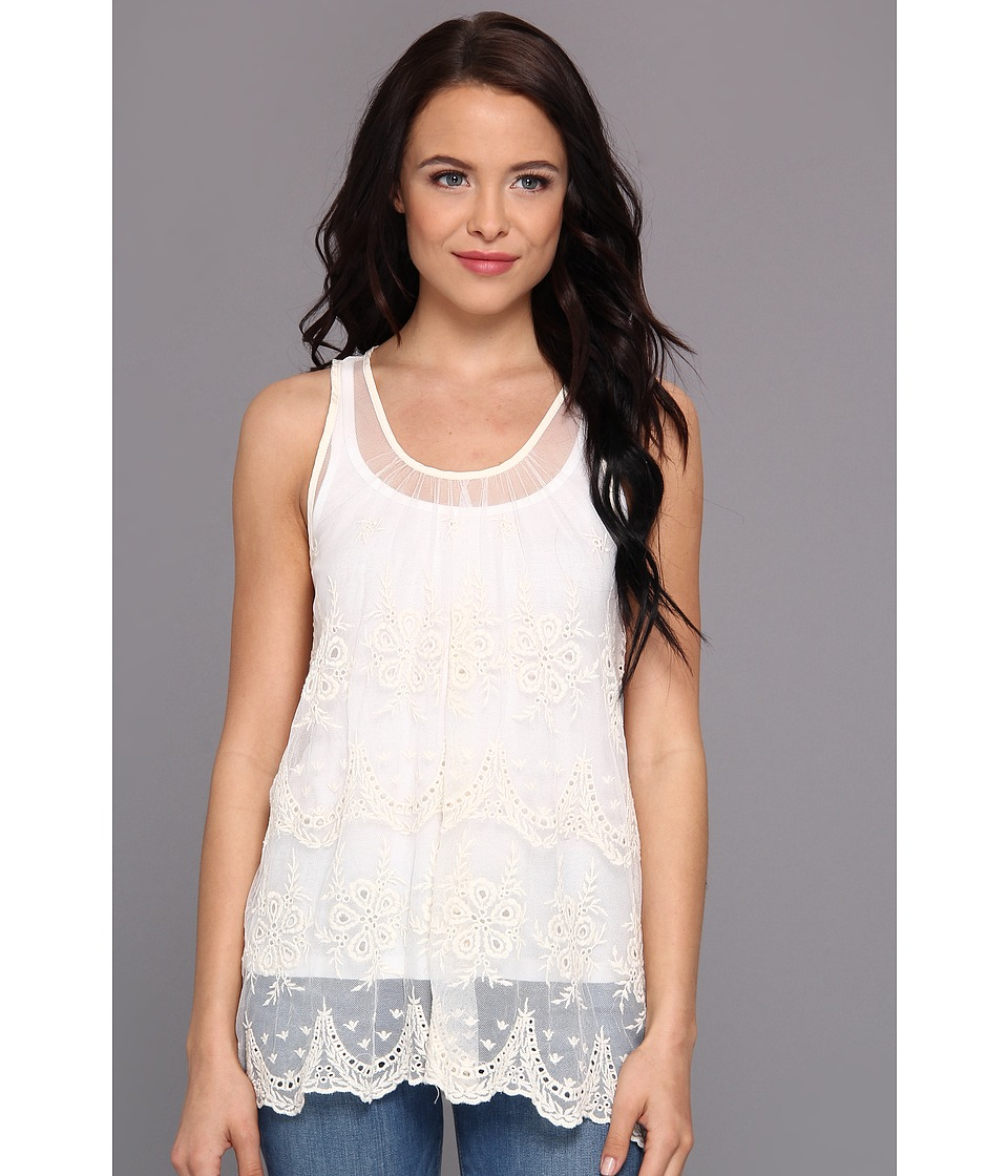 Gabriella Rocha - Miranda Lace Tank Top (Cream) Women's Sleeveless
