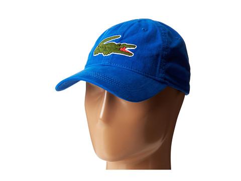 Lacoste - Large Croc Gabardine Cap (Gipsy Blue) Caps
