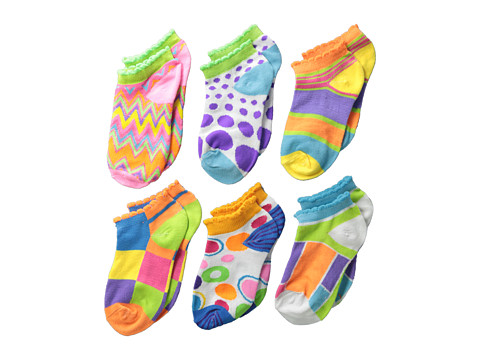Jefferies Socks - Mod Low Cut 6-Pack (Toddler/Little Kid/Big Kid) (Bright) Girls Shoes