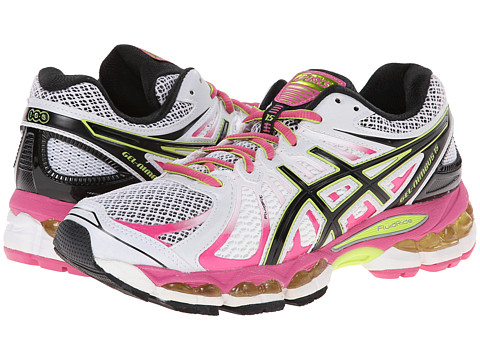 ASICS - GEL-Nimbus 15 (White/Black/Lime) Women's Running Shoes