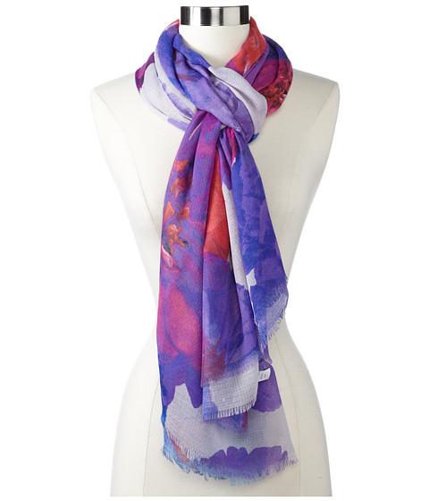Echo Design - Wanderlust Floral Wrap (Taupe) Scarves