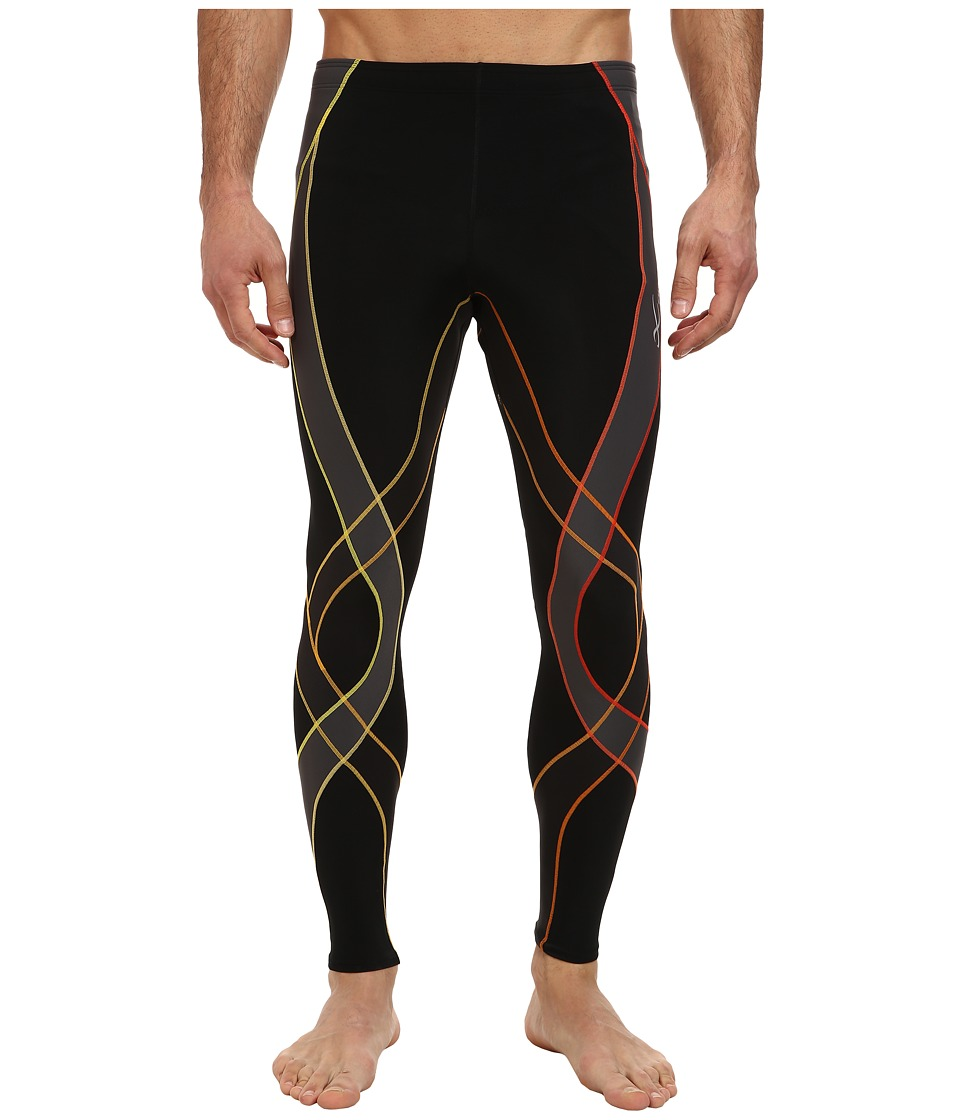 CW-X - Endurance Generator Tights (Black/Orange Gradient) Men's Workout