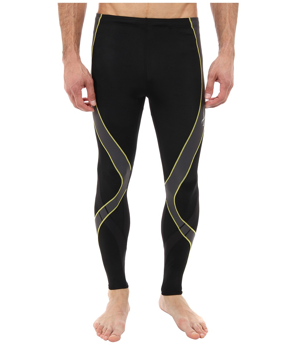 CW-X - Pro Tight (Black/Grey/Yellow) Men's Workout