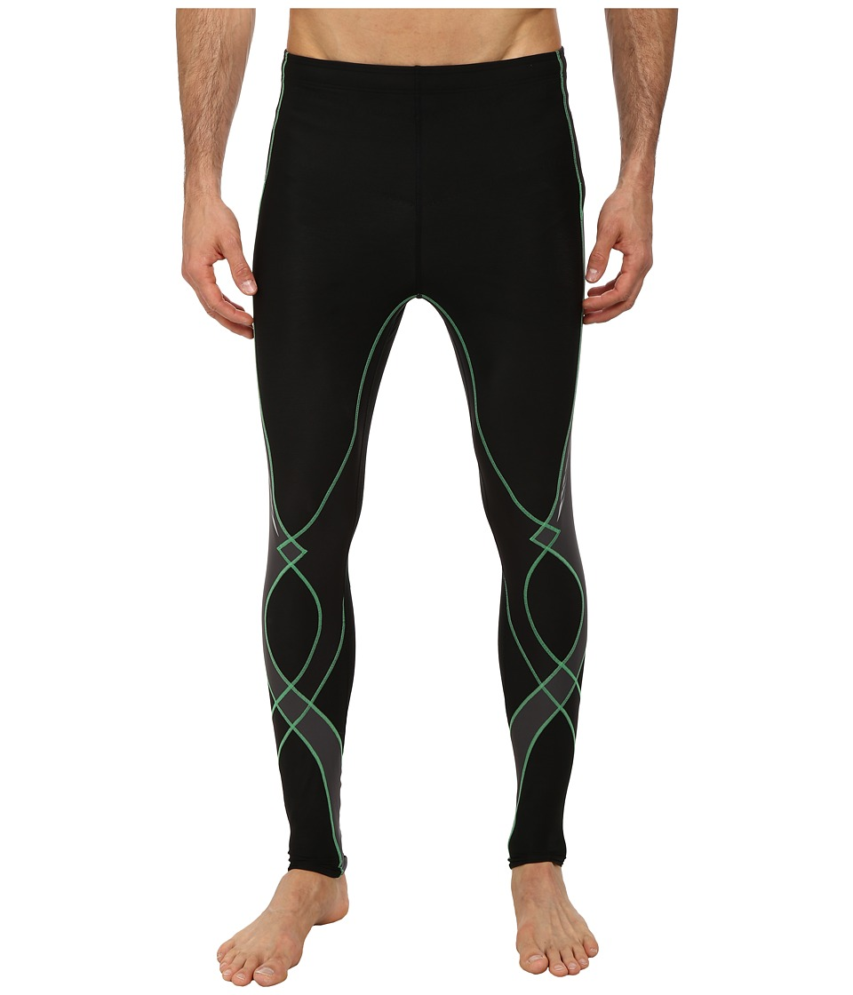 CW-X - Insulator Stabilyx Tights (Black/Grey/Green) Men's Workout